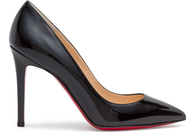 Pigalle 100 Black Patent Leather Pumps