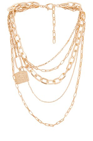 Amber Sceats Layered Chain Necklace in Gold | REVOLVE