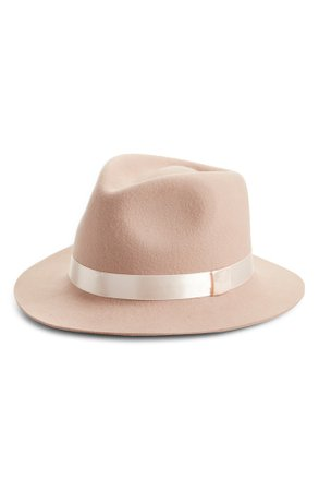 Rachel Parcell Satin Ribbon Wool Felt Hat (Nordstrom Exclusive) | Nordstrom