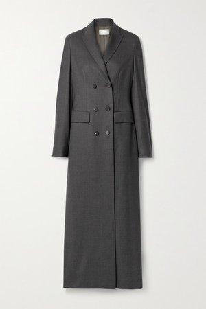 Marleen Double-breasted Wool Coat - Dark gray