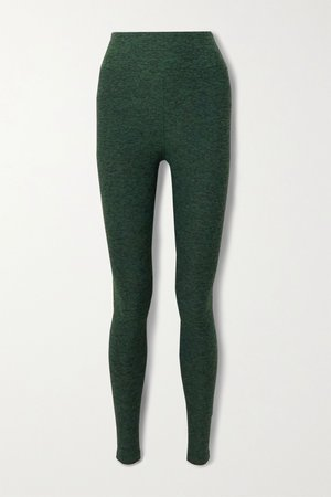 Green Yoga space-dyed stretch leggings   Year of Ours   NET-A-PORTER