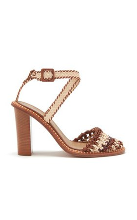 Deia Crochet Leather Sandals By Ulla Johnson