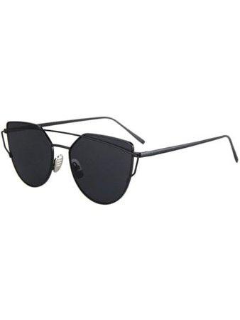 Metal Bar Black Frame Sunglasses