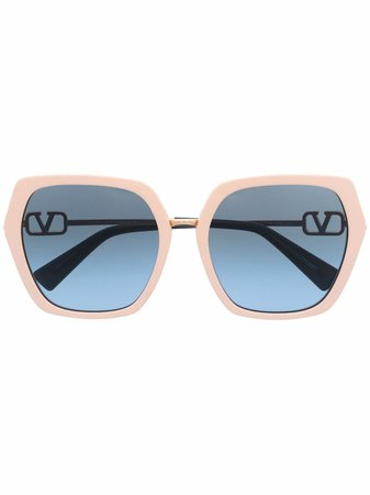 Valentino Eyewear oversize-frame Tinted Sunglasses - Farfetch