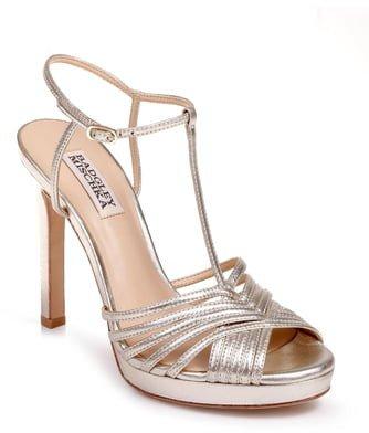 Angelica Metallic T-Strap Sandal