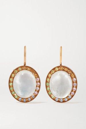 Rose gold 18-karat rose gold, moonstone and sapphire earrings   Andrea Fohrman   NET-A-PORTER