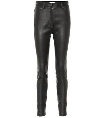 Kate leather high-rise skinny jeans