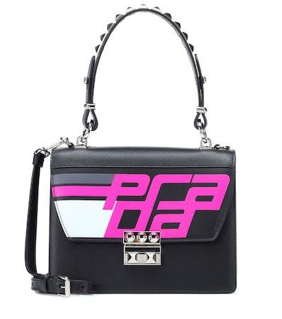 Elektra leather shoulder bag