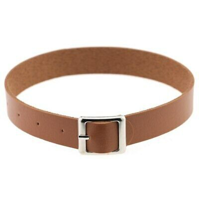 Fine quality Harajuku Belt Collar Choker Necklace PU Leather Choker Punk Goth | eBay light medium brown