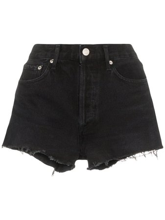 AGOLDE Distressed Denim Shorts - Farfetch