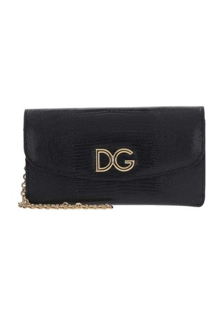 Dolce & Gabbana Leather Wallet On Chain