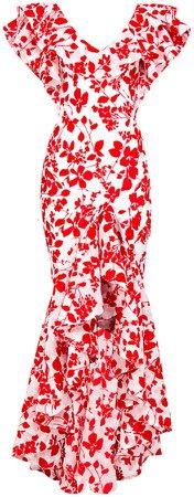 Bambah Seville Floral Velvet Gown