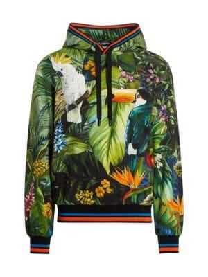 Dolce & Gabbana - Jungle-Print Joggers - saks.com