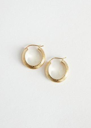 Scored Mini Hoop Earrings - Gold - Hoops - & Other Stories US