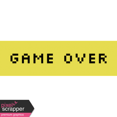 Video Game Valentine Label - Game Over graphic by Marisa Lerin | Pixel Scrapper Digital Scrapbooking