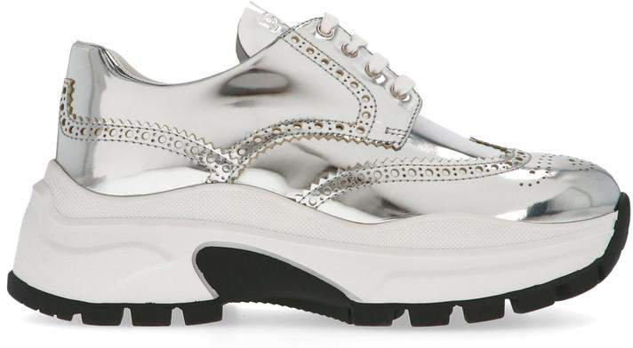 Pegasus Metallic Lace Up Sneakers