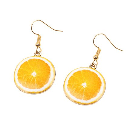 Orange Slice Earrings