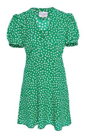 Paula Floral-Print Silk Mini Dress by HVN