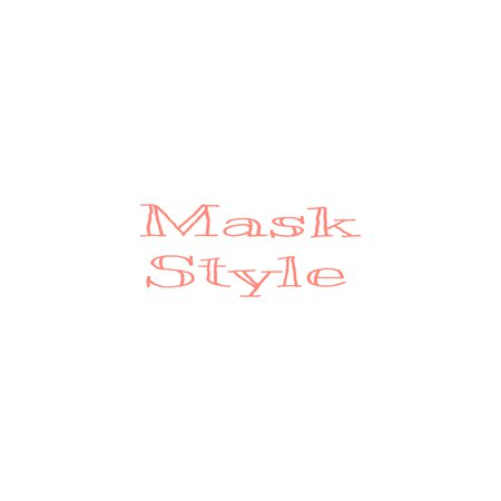 Mask Text Pink Coral