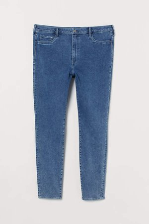 H&M+ High Waist Jeggings - Blue
