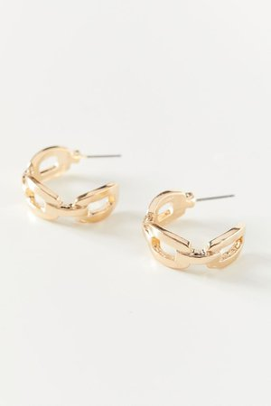 Linked Statement Hoop Earring | Urban Outfitters