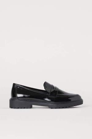 Patent Loafers - Black