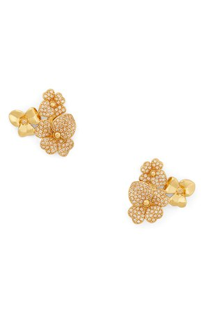 kate spade new york precious pansy pavé cluster stud earrings | Nordstrom