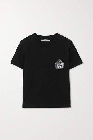Net Sustain Printed Organic Cotton-jersey T-shirt - Black