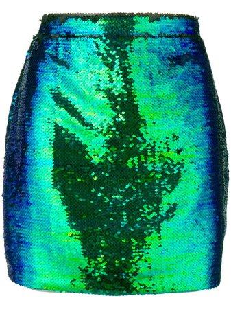 186£ Amen Sequin Embellished Mini Skirt - Shop Online Now - Fast UK Delivery, Global Brands