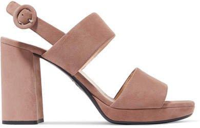 95 Suede Platform Slingback Sandals - Taupe