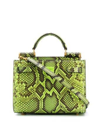 Dolce & Gabbana Snake-Print Leather Handbag BB6836A2043 Green | Farfetch