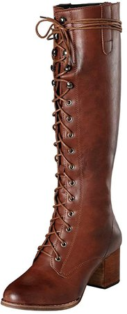 Women's Lace up Knee High Boots