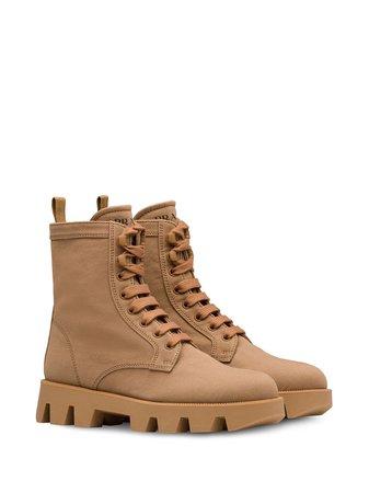 Prada Denim Ankle Boots 1T012MF0451K4U Neutral   Farfetch