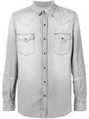 grey denim shirt men - Google Search