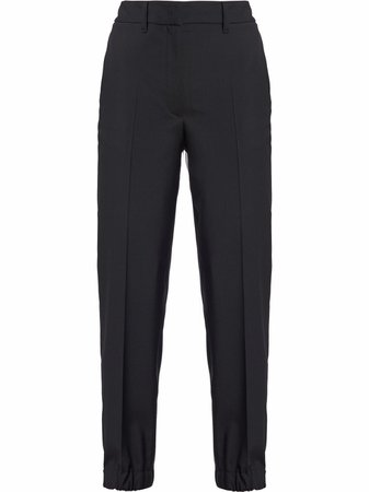 Shop Prada cropped high-waisted trousers with Express Delivery - FARFETCH