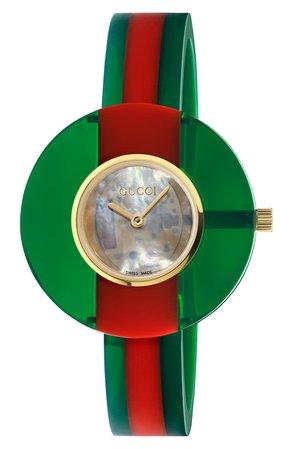 Gucci Vintage Web Bangle Watch, 35mm | Nordstrom
