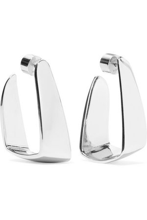 Jennifer Fisher | Small Hammock silver-plated earrings | NET-A-PORTER.COM