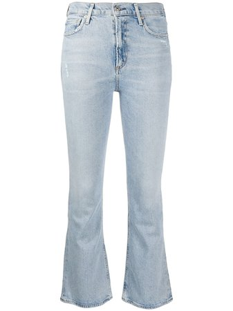 Shop blue Citizens of Humanity cropped jeans with Express Delivery - Farfetch