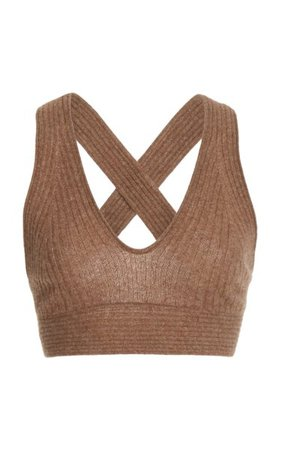 Tromelin Knitted Ribbed Cashmere Bralette By Loulou Studio | Moda Operandi