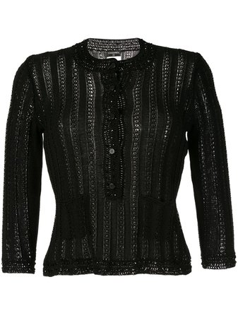 Chanel, long sleeve knitted cardigan