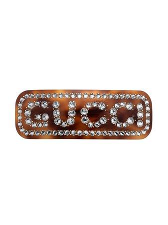 Gucci Crystal Gucci Hair Clip - Farfetch