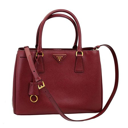 Amazon.com: Prada Women's Red Leather Tote Bag With Strap BN1874 Cerise: Clothing