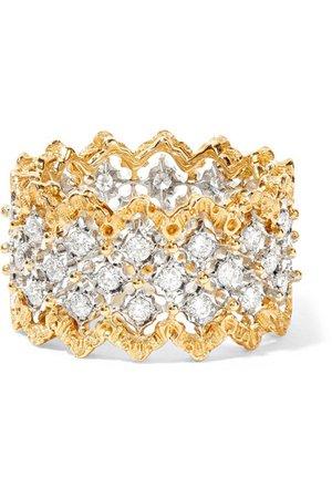 Buccellati | Rombi 18-karat yellow and white gold diamond ring | NET-A-PORTER.COM
