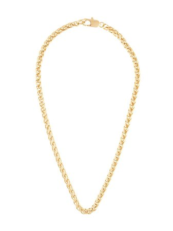 Shop gold Laura Lombardi XL wheat chain necklace with Express Delivery - Farfetch