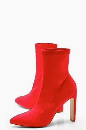 Flat Heel Sock Boots | Boohoo