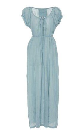 Fortuna Peasant Cotton Maxi Dress by Loup Charmant | Moda Operandi