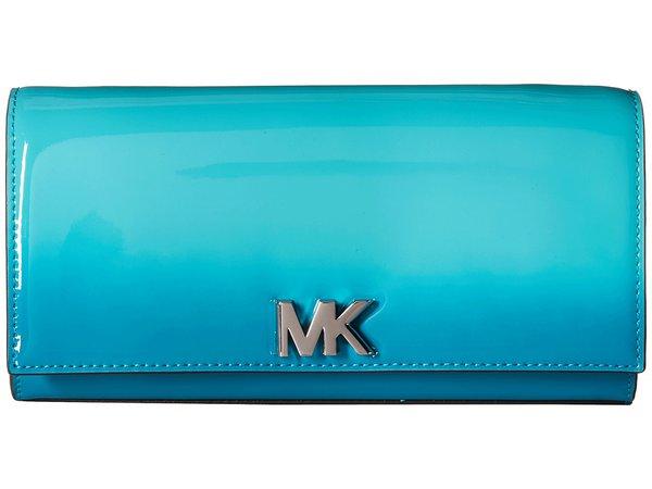 MICHAEL Michael Kors - Mott Large East/West Clutch (Tile Blue) Clutch Handbags