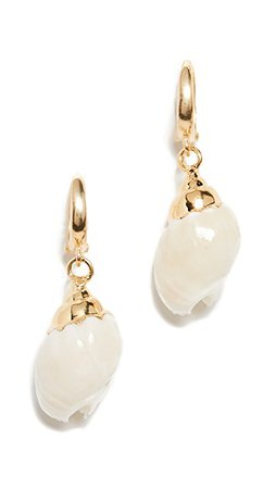 Maison Irem Small Conch Shell Earrings | SHOPBOP