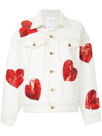 Ashish Sequin Hearts Denim Jacket - Farfetch
