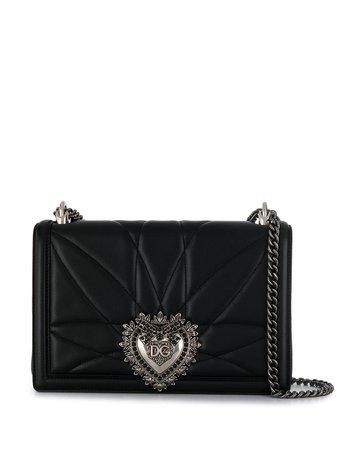 Black Dolce & Gabbana Devotion Shoulder Bag | Farfetch.com